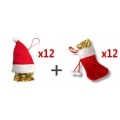 Fortune cookies en chaussettes et bonnets de Noël vendus par 24