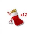 Fortune cookie accroche sapin - chaussettes vendus par 12