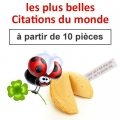 "(à partir de 10) Fortune cookies thème ""citations du monde"""