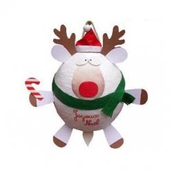 Piñata à ficelles Renne de Noël avec 100 fortune cookies