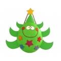 Piñata à ficelles Sapin de Noël avec 100 fortune cookies