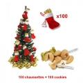 Fortune cookies spcial sapin de Nol - vendus par 100