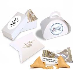 ------- (à partir de) -------- Lot de 12 boîtes-cadeaux personnalisées contenant 1 FORTUNE COOKIE