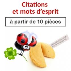 """(à partir de 10) Fortune cookies thème """"citations et mots d'esprit"""""""