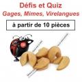 """(à partir de 10) Fortune cookies spécial """"Défis et Quiz"""""""