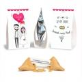 ------- (à partir de) -------- 100 Fortune cookies avec chevalets personnalisés
