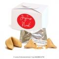 Lot de 5 coffrets Joyeux Noël contenant 10 fortune cookies