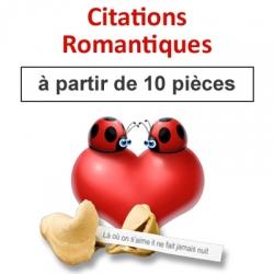 """(à partir de 10) Fortune cookies thème """"citations romantiques"""""""